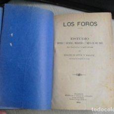 Libros antiguos: 1883 LOS FOROS ESTUDIO EN GALICIA Y ASTURIAS ROGELIO JOVE. Lote 158615018