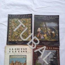 Libros antiguos: TUBAL ARQUITECTURA CATALANA LA CIUTAT I LA CASA INCLUYENDO EL ESPECIAL GAUDI. Lote 158619338