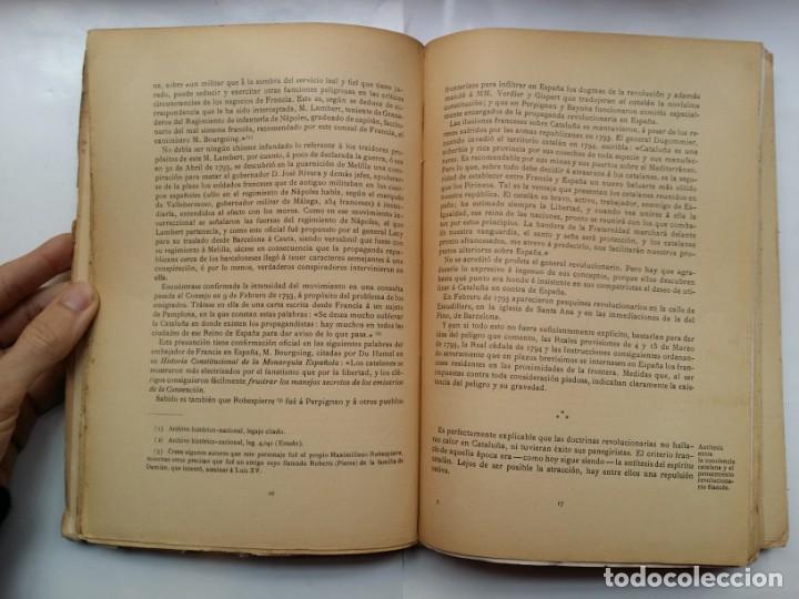 Libros antiguos: HISTORIA DEL PENSAMIENTO POLITICO CATALAN DURANTE LA GUERRA DE ESPAÑA CON LA REP. FRANCESA 1793-1796 - Foto 6 - 158840578