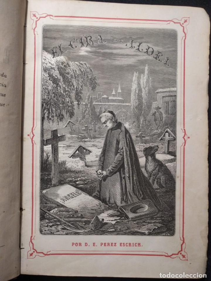 EL CURA DE ALDEA. E. PÉREZ ESCRICH. 1861. 12 GRABADOS. TOMO 1. (Libros Antiguos, Raros y Curiosos - Literatura - Otros)