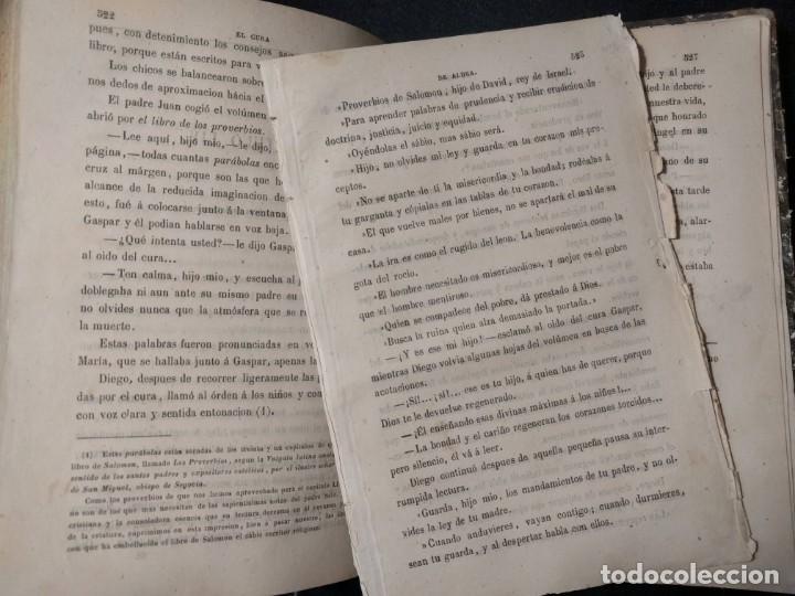 Libros antiguos: El cura de aldea. E. Pérez Escrich. 1861. 12 Grabados. Tomo 1. - Foto 3 - 158868306
