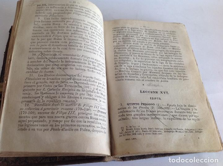 Libros antiguos: Lecciones elementales de Historia Universal. Joaquín Rubio y Ors. Barcelona 1877 - Foto 7 - 159052282