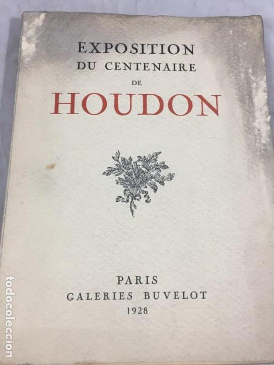 Libros antiguos: Escultura Exposition du centenaire de Houdon 1928 Galeries Buvelot en Francés. Ilustrado - Foto 9 - 159112370