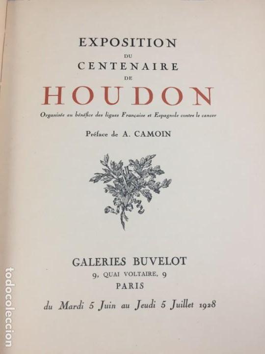 ESCULTURA EXPOSITION DU CENTENAIRE DE HOUDON 1928 GALERIES BUVELOT EN FRANCÉS. ILUSTRADO (Libros Antiguos, Raros y Curiosos - Bellas artes, ocio y coleccionismo - Otros)