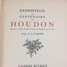 Libros antiguos: ESCULTURA EXPOSITION DU CENTENAIRE DE HOUDON 1928 GALERIES BUVELOT EN FRANCÉS. ILUSTRADO. Lote 159112370