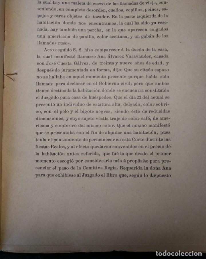 Libros antiguos: Causa por regicidio frustrado Mateo Morral, Francisco Ferrer, Nakens 1911 Atentado Alfonso XIII boda - Foto 7 - 159199486