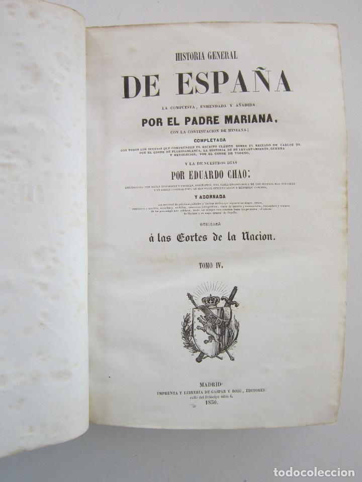 HISTORIA GENERAL DE ESPAÑA, LA COMPUESTA, ENMENDADA Y AÑADIDA POR EL PADRE MARIANA, TOMO IV (Libros Antiguos, Raros y Curiosos - Historia - Otros)