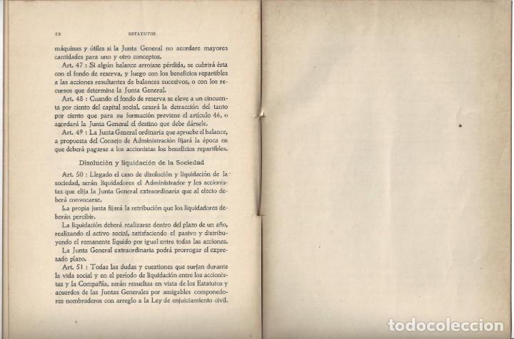Libros antiguos: ESTATUTOS DE LA SOCIEDAD ANÓNIMA UNIÓN INDUSTRIAL. IMPRENTA DEL DIARIO. VILLANUEVA Y GELTRÚ- 1914 - Foto 4 - 159231622