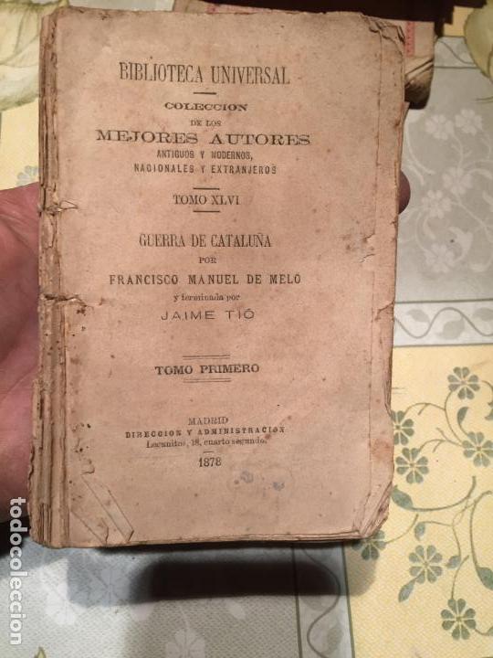 LIBRO HISTORIA DE LOS MOVIMIENTOS, SEPARACIÓN Y GUERRA DE CATALUÑA FRANCISCO MANUEL DE MELÓ 1878 (Libros Antiguos, Raros y Curiosos - Pensamiento - Otros)