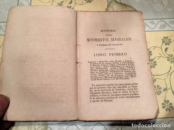 Libros antiguos: Libro HISTORIA DE LOS MOVIMIENTOS, SEPARACIÓN Y GUERRA DE CATALUÑA FRANCISCO MANUEL DE MElÓ 1878 - Foto 2 - 159299774