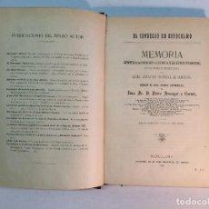 Libros antiguos: PEDRO ARMENGOL: EL CONGRESO DE ESTOCOLMO (1885). Lote 159311998