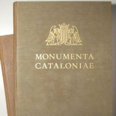 Libros antiguos: DURAN I SANPERE, AGUSTÍ - ELS RETAULES DE PEDRA (2 VOL - COMPLET) MONUMENTA CATALONIAE, VOL. I I II. Lote 159332393