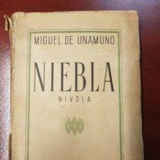 Libros antiguos: NIEBLA - MIGUEL DE UNAMUNO - 1935. Lote 159344304