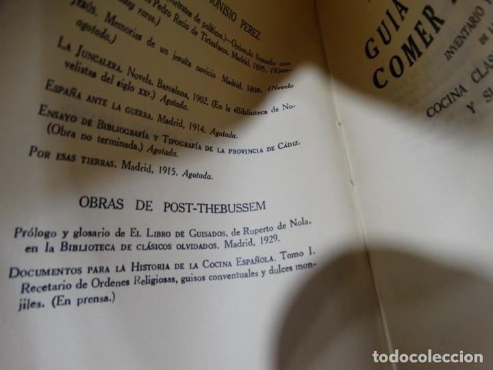 Libros antiguos: GUÍA DEL BUEN COMER ESPAÑOL. 1929. DIONISIO PÉREZ - Foto 3 - 159365722