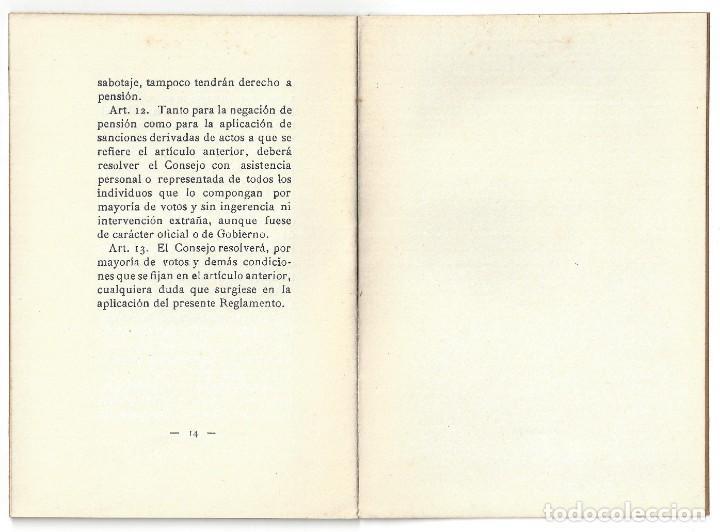 Libros antiguos: REGLAMENTO DE PENSIONES DE LA FUNDACIÓN MARQUÉS. IMPRENTA DIARIO. VILLANUEVA Y GELTRÚ- 1931 - Foto 4 - 159394322