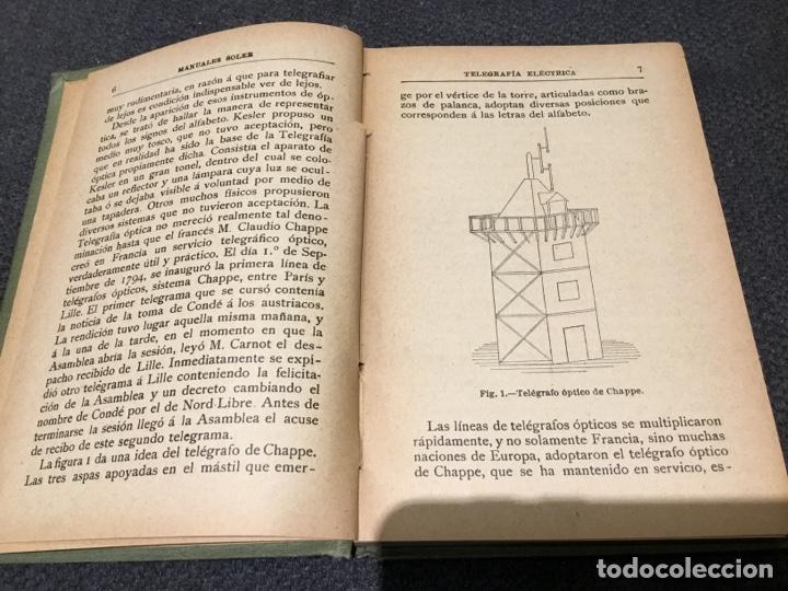 Libros antiguos: Telegrafia Electrica Manuales Gallach - Foto 3 - 159454030