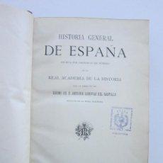 Libros antiguos: REINADO DE CARLOS IV. CÁNOVAS. HISTORIA GENERAL DE ESPAÑA. 3 VOLS.. Lote 159475546