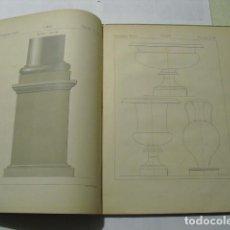 Libros antiguos: 1884-1890 COURS DE DESSIN GEOMETRIQUE CHARDET DOS TOMOS EN UN VOLUMEN 91 LAMINAS. Lote 159574778