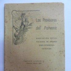 Libros antiguos: LOS PREVISORES DEL PORVENIR. AÑO 1928. Lote 159608850