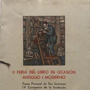 1953 II Feria del Libro de Ocasión Antiguo y Moderno. Tirada única de 250 ej. numerados 17x24 cm