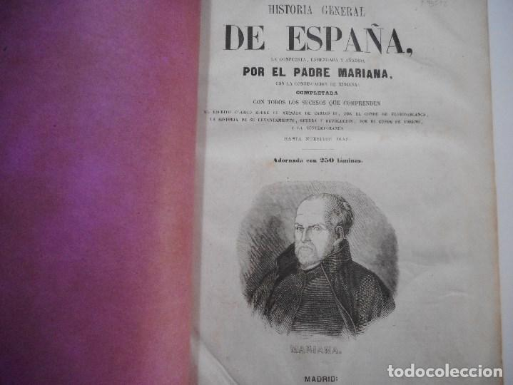 Libros antiguos: PADRE MARIANA Historia General de España (3 Tomos) Y93542 - Foto 3 - 159637226