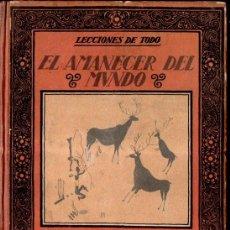 Libros antiguos: CARLES RIBA : EL AMANECER DEL MUNDO (MUNTAÑOLA, 1922). Lote 159883634
