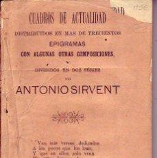 Libros antiguos: CUADROS DE ACTUALIDAD - ANTONIO SIRVENT - TENERIFE 1894. Lote 160156690