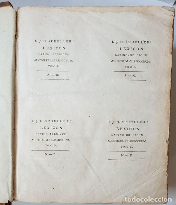 Libros antiguos: Lexicon holandés del 1799, de la editorial Luchtmans, autor I.J.G. Schelleri, 1.760 páginas. - Foto 2 - 160183946