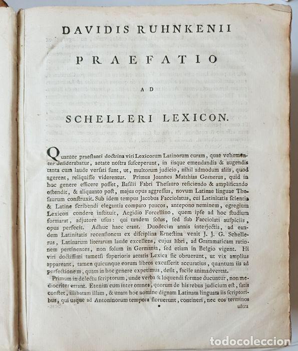 Libros antiguos: Lexicon holandés del 1799, de la editorial Luchtmans, autor I.J.G. Schelleri, 1.760 páginas. - Foto 3 - 160183946