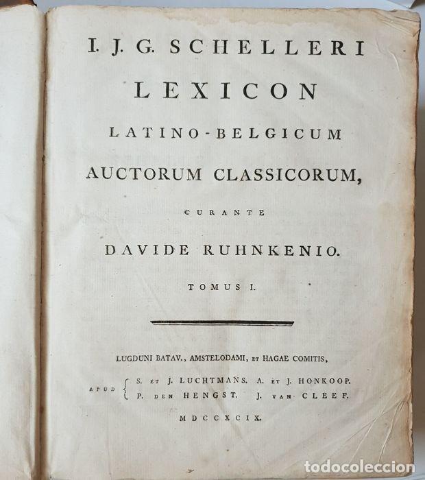 Libros antiguos: Lexicon holandés del 1799, de la editorial Luchtmans, autor I.J.G. Schelleri, 1.760 páginas. - Foto 6 - 160183946