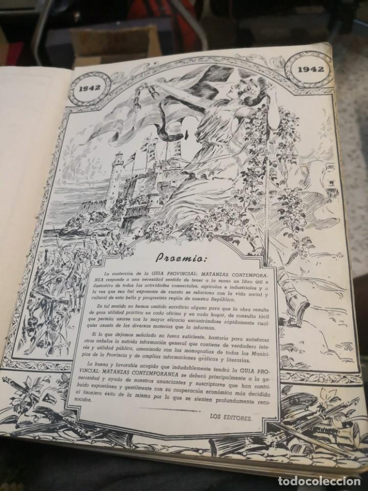 Libros antiguos: Raro y difícil libro de ver año 1942 MATANZAS CONTEMPORÁNEAS GUIA PROVINCIAL. CUBA - Foto 2 - 160193726