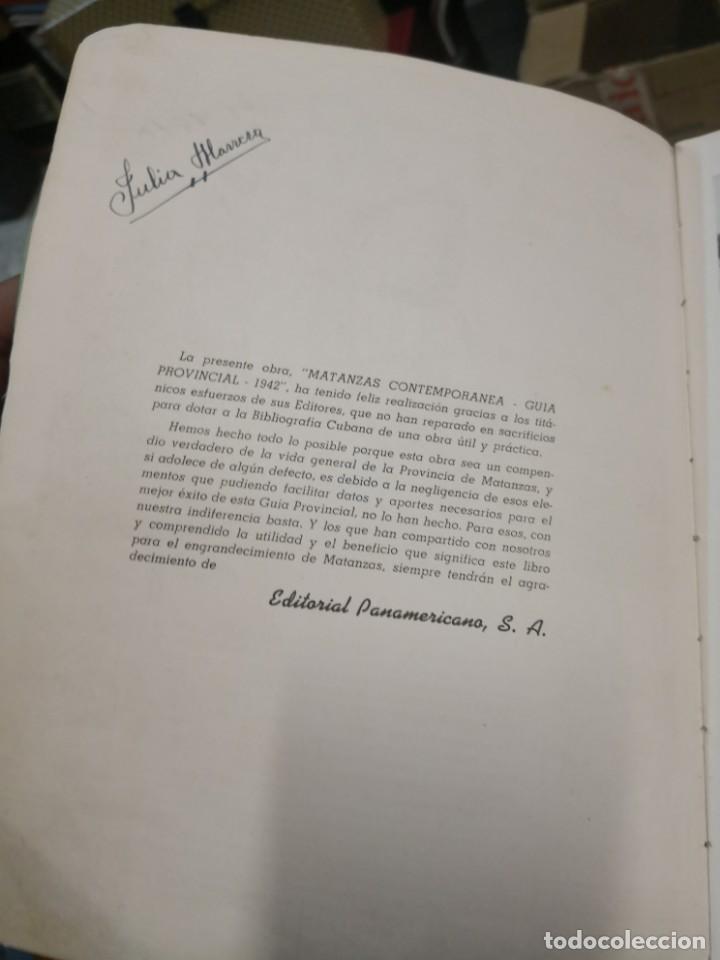 Libros antiguos: Raro y difícil libro de ver año 1942 MATANZAS CONTEMPORÁNEAS GUIA PROVINCIAL. CUBA - Foto 4 - 160193726