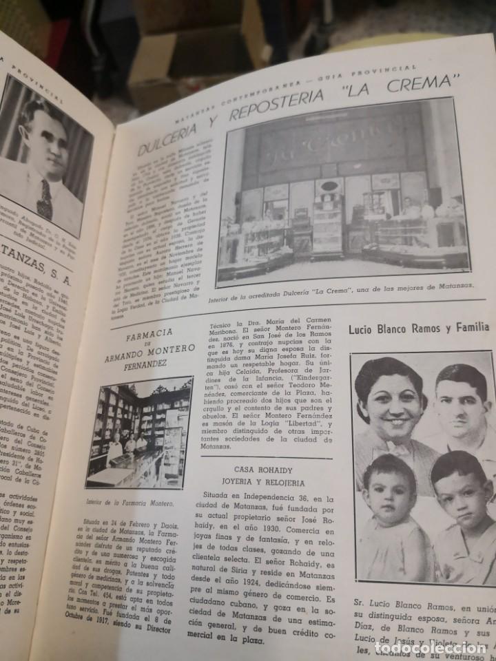 Libros antiguos: Raro y difícil libro de ver año 1942 MATANZAS CONTEMPORÁNEAS GUIA PROVINCIAL. CUBA - Foto 6 - 160193726