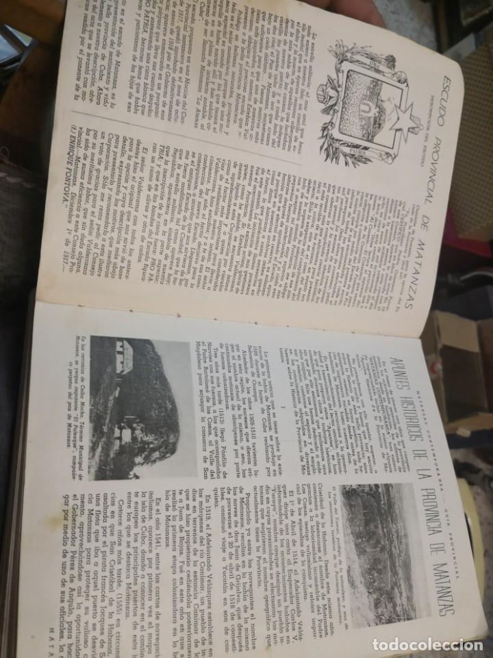 Libros antiguos: Raro y difícil libro de ver año 1942 MATANZAS CONTEMPORÁNEAS GUIA PROVINCIAL. CUBA - Foto 7 - 160193726