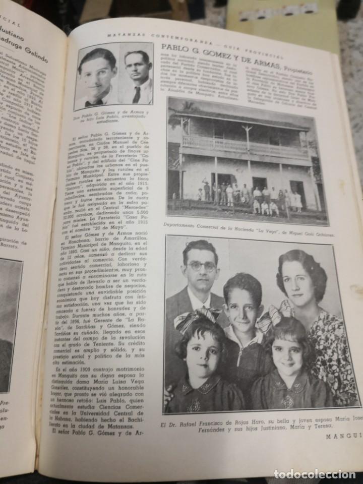 Libros antiguos: Raro y difícil libro de ver año 1942 MATANZAS CONTEMPORÁNEAS GUIA PROVINCIAL. CUBA - Foto 8 - 160193726
