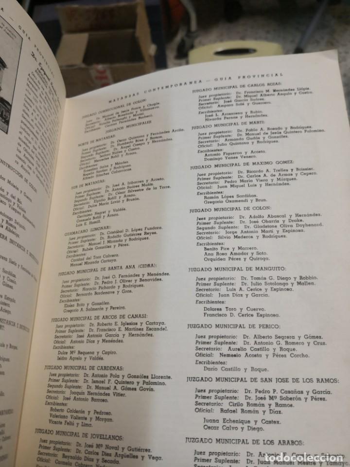 Libros antiguos: Raro y difícil libro de ver año 1942 MATANZAS CONTEMPORÁNEAS GUIA PROVINCIAL. CUBA - Foto 9 - 160193726