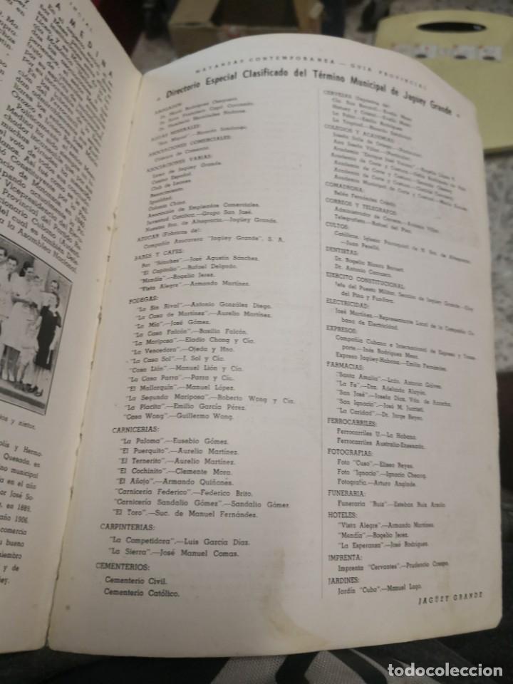 Libros antiguos: Raro y difícil libro de ver año 1942 MATANZAS CONTEMPORÁNEAS GUIA PROVINCIAL. CUBA - Foto 10 - 160193726