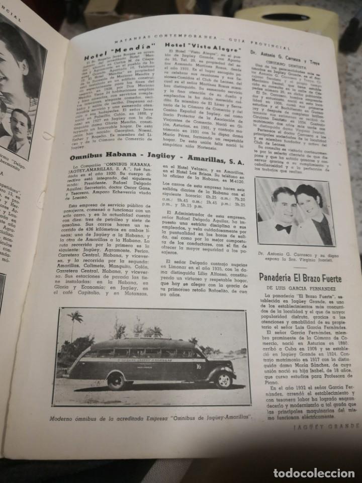 Libros antiguos: Raro y difícil libro de ver año 1942 MATANZAS CONTEMPORÁNEAS GUIA PROVINCIAL. CUBA - Foto 11 - 160193726