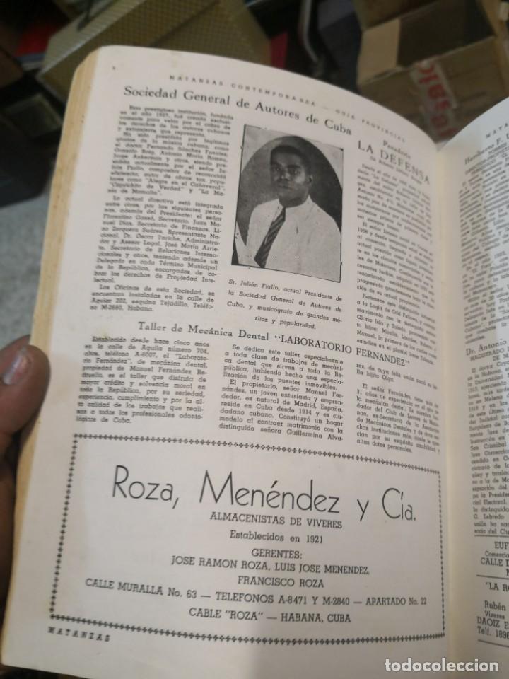 Libros antiguos: Raro y difícil libro de ver año 1942 MATANZAS CONTEMPORÁNEAS GUIA PROVINCIAL. CUBA - Foto 13 - 160193726