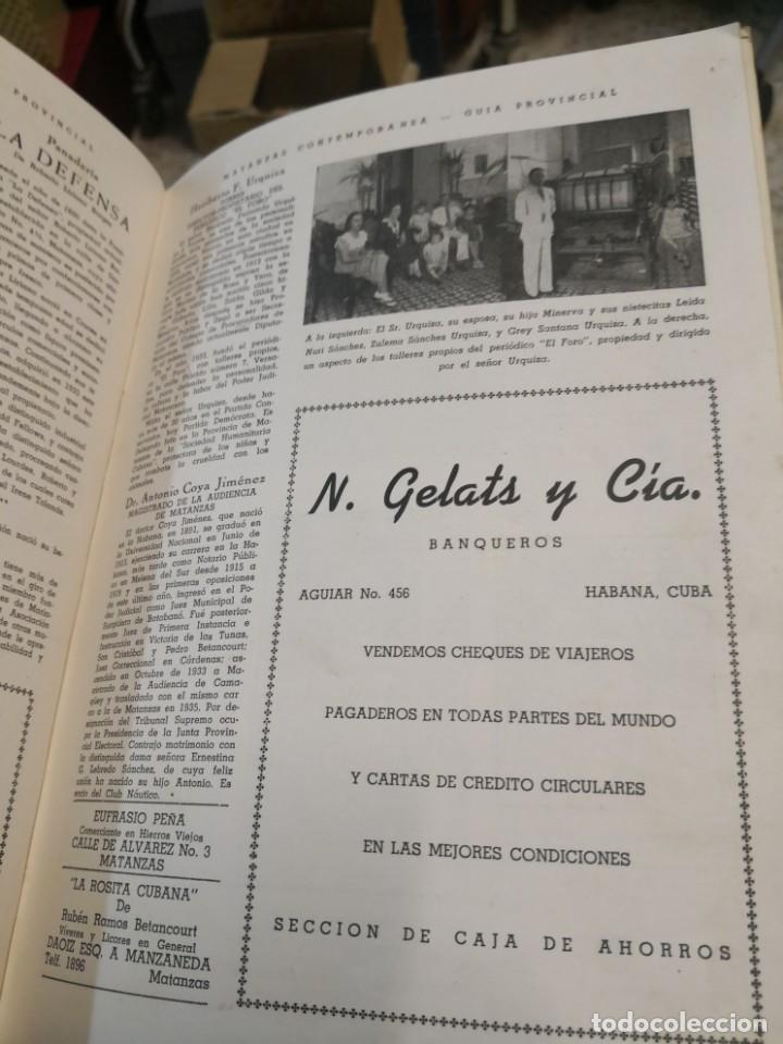 Libros antiguos: Raro y difícil libro de ver año 1942 MATANZAS CONTEMPORÁNEAS GUIA PROVINCIAL. CUBA - Foto 14 - 160193726