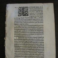 Libros antiguos: PLIEGO-MADRID VALLADOLID-SIGLO XVIII-VER FOTOS-(V-16.370). Lote 160299966