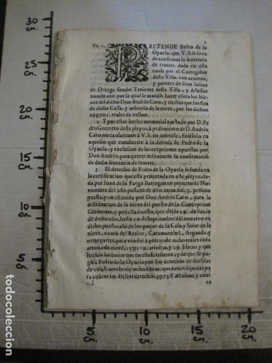 Libros antiguos: PLIEGO-MADRID VALLADOLID-SIGLO XVIII-VER FOTOS-(V-16.370) - Foto 10 - 160299966