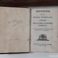 Libros antiguos: ORTOGRAFÍA DE LA LENGUA CASTELLANA. R. ACADEMIA ESPAÑOLA. IMP. NACIONAL. MADRID. 1820.. Lote 160337538