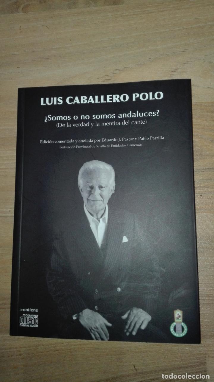 LUIS CABALLERO POLO -¿SOMOS O NO ANDALUCES ? CONTIENE CD (Libros Antiguos, Raros y Curiosos - Bellas artes, ocio y coleccionismo - Otros)