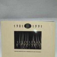 Libros antiguos: LIBRO - 1981-1991 -CDGC 10 ANYS- CENTRE DRAMATIC DE LA GENERALITAT DE CAT/N-8680. Lote 160349258