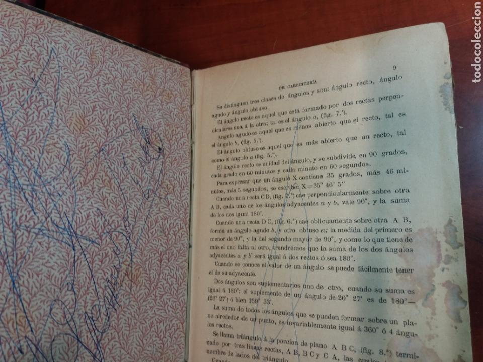 Libros antiguos: Tratado de carpintería - Foto 5 - 160446341