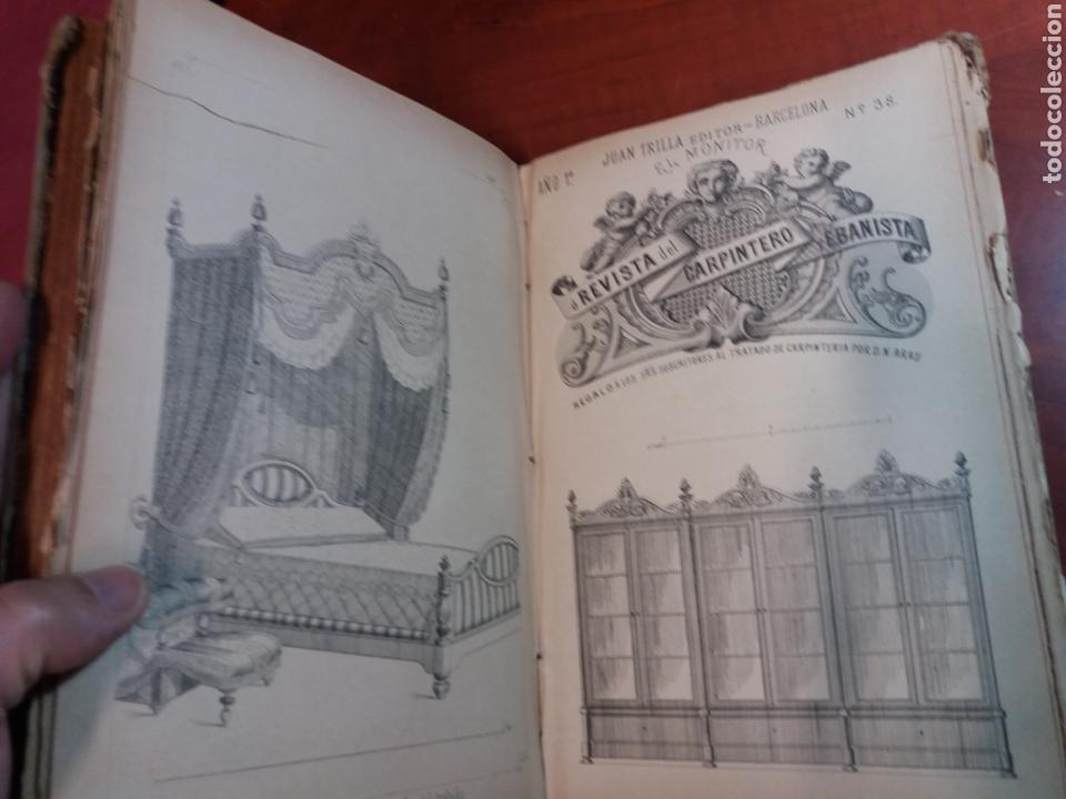 Libros antiguos: Tratado de carpintería - Foto 7 - 160446341