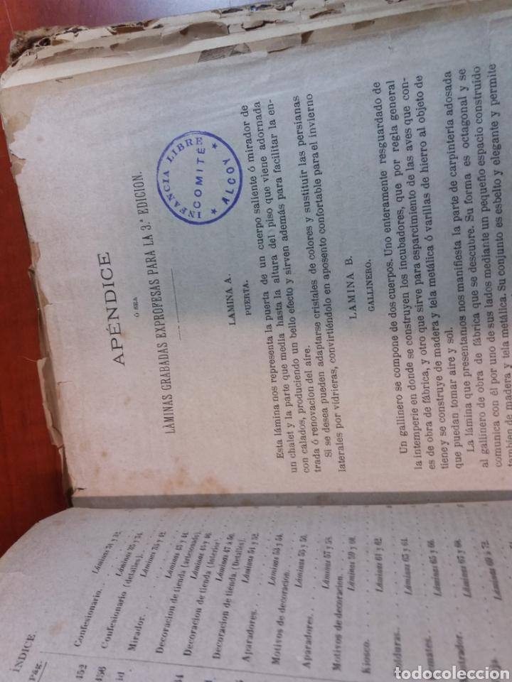 Libros antiguos: Tratado de carpintería - Foto 9 - 160446341