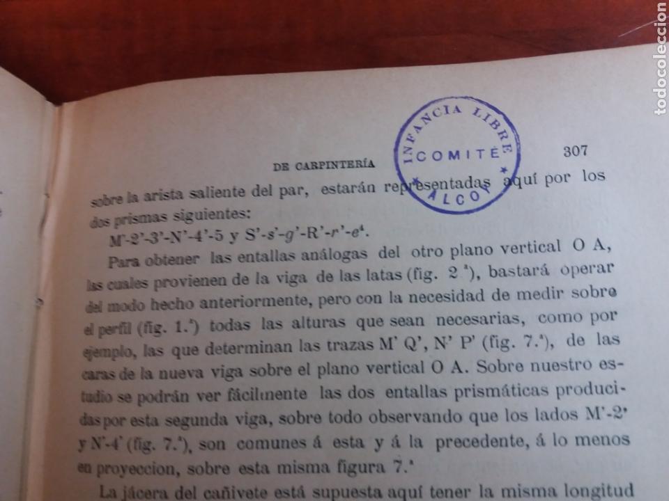 TRATADO DE CARPINTERÍA (Libros Antiguos, Raros y Curiosos - Ciencias, Manuales y Oficios - Otros)