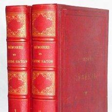 Libros antiguos: MÉMOIRES DE CLAUDE HATON … 2 VOLS. Lote 160459470